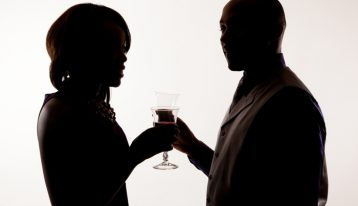 alcohol use in romantic relationships - couple drinking wine - ranch at dove tree