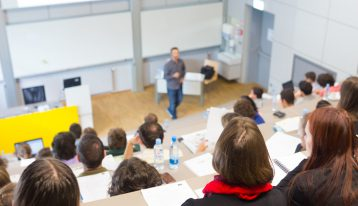 staying sober while getting a college education - college classroom - ranch at dove tree