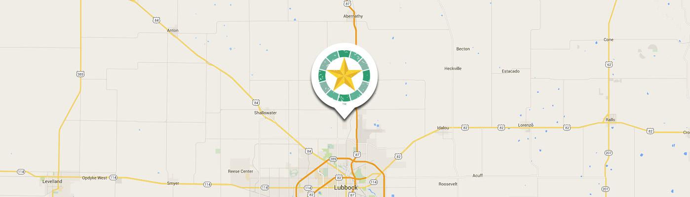 Map of Lubbock, Texas