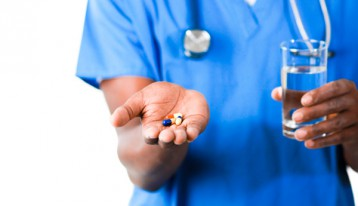 is moderation possible in recovery - nurse holding pills - ranch at dove tree