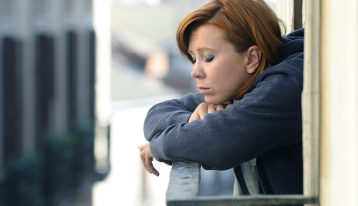 The Fear of Being Sober: It's the Nagging Feeling at the Back of Your Mind - woman depressed
