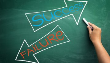 Fear of Failure and Success: Are You Struggling with Both? - success and failure written on chalkboard