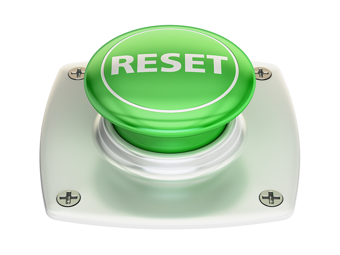 large green reset button