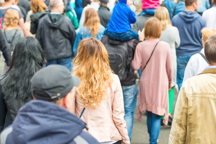 Substance Abuse Treatment Benefits Communities and the Workforce - crowd of people walking