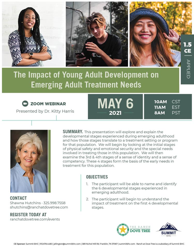 The Impact of Young Adult Development on Emerging Adult Treatment Needs
