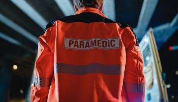 Back of Paramedic - First Responders