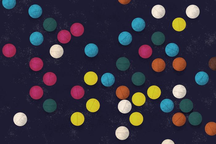 Colored pills - Designer Drugs